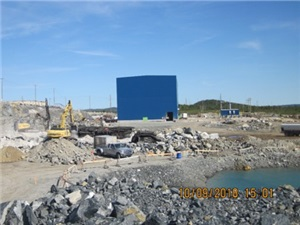 Site preparation for crusher building